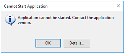 Exchange Online - Cannot Start Application